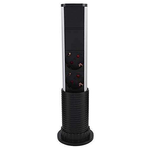 lyrlody stekkerdoos met 3 geaarde stopcontacten en 2 USB-stopcontacten met LED-display voor kantoor, tafel en keuken in pop-up stijl