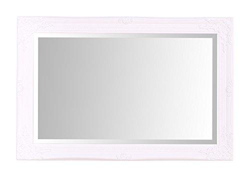 Select Spiegel Rhone Wandspiegel–French Vintage, Rokoko Barock Stil–Weiß–60cm x...