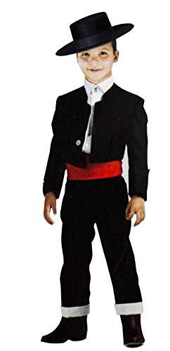 Gojoy shop- Traje Corto Flamenco Disfraz Cordobés para Niños para Ferias, Romerías y Cruces de Mayo, Contiene Sombrero, Chaqueta, Chaleco, Camisa, Pantalón y Faja. 6 Tallas Diferentes. (4)