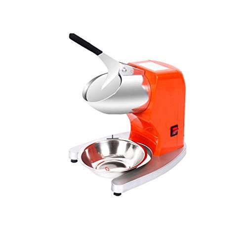 Ice Shaver Elektrische sneeuwkegelmachine, voor ijs, koude dranken, geschikt voor snackbars zomer, 2200 tpm, 380 W oranje