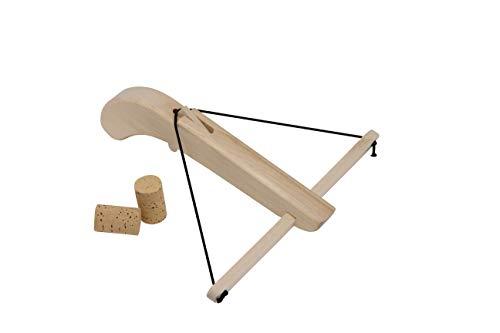 Armbrust für Flaschenkorken inkl. 2 Korken die Holzkiste Holz Mittelalter Outdoor Spielzeug
