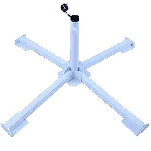 DDYOUTDOOR Foldable Tempered Iron Patio Sunshade Anchor Holder Umbrella Flagpole Stand Base White