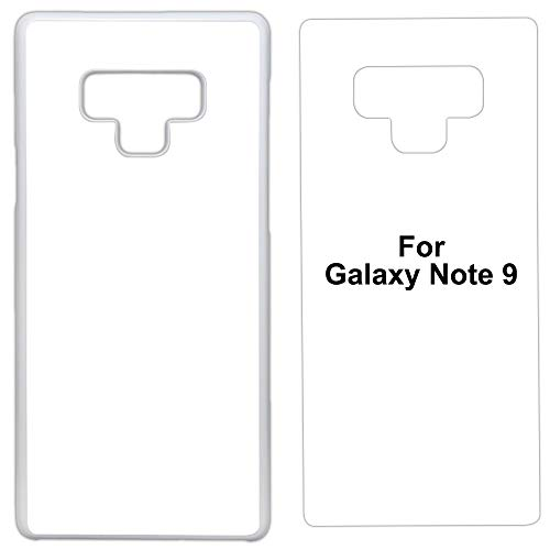 5 x Sublimation Plastic White case Compatible with Galaxy Note 9 - Blank dye case + Inserts for dye Sublimation/Blank Phone Cover Printable case, Made by INNOSUB USA