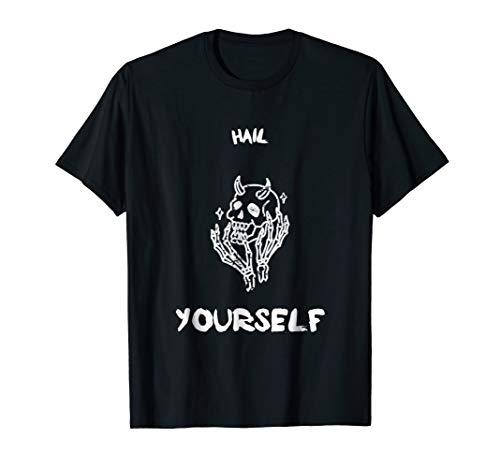 Hail Yourself Last Podcast on the Left Skull T-shirt