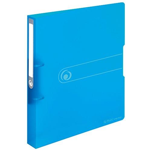 Herlitz 11205762 Ringbuch A4, PP, 2-Ring-Kombi-Mechanik, 3,8 cm Rücken, 25 mm Füllhöhe, blau