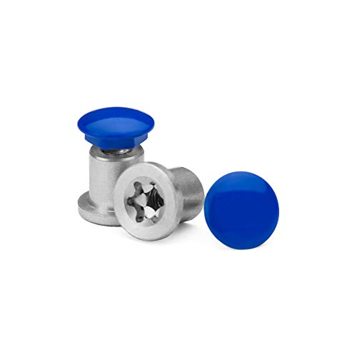 Revant Lot de boulons traversants pour Oakley Jawbone - Bleu brillant