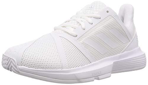 adidas Damen Courtjam Bounce Tennisschuhe, FTWR White FTWR White Matte Silver, 40.5 EU