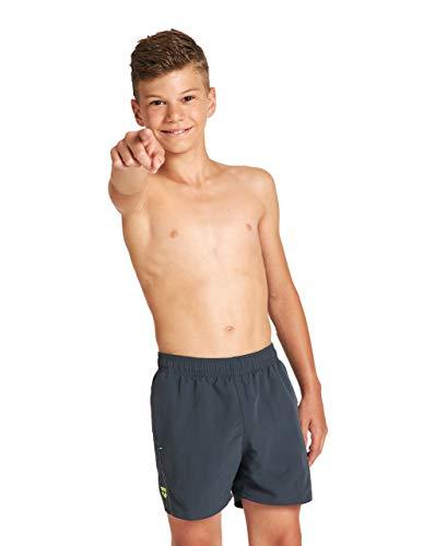 ARENA Jungen Fundamentals Arena Logo Jr Boxer Swim Trunks, Asphalt-soft Green-white, 152 EU