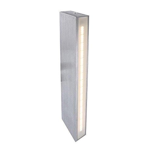 Lampe murale LED Arne, AC 220–240 V/50–60 Hz, 3000 K, 5 W, aluminium brossé, Argent Classe d'efficacité énergétique : A