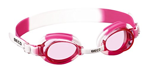 Beco Halifax Junior Kinder-Schwimmbrille, rosa Gläser, Pink