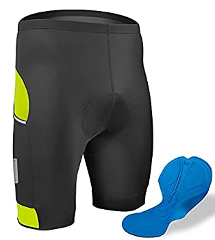 Aero Tech All Day Cycling Shorts with Reflective Side Pockets  Small Safety Yellow