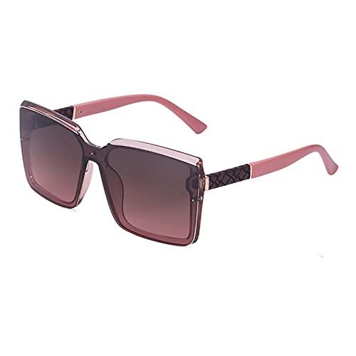 AMFG Gafas De Sol Grandes Marco Para Mujer Y Hombres Glases Frescos Con Caja De Ojos, Regalo De Vacaciones (Color : D, Size : M)
