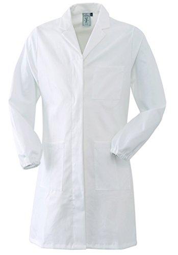 Angiolina Camice Medico da Donna Sciancrato 100% Cotone con Elastico ai Polsi (XS)