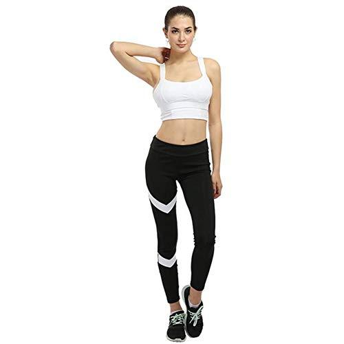 Pantalones de Yoga Mujer S-XL Slim Stretch Leggings Deportivos Mallas para Correr Gimnasio Entrenamiento Pantalones a Rayas
