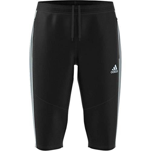 adidas Men's Tiro 19 3/4 Soccer Pants, Black/Reflective Silver, Small