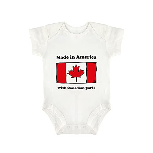 DKISEE Made in America with Canadian Parts Baby Body Manga Corta Algodón Blanco Bebé Onesies 0-3 Meses, og7xgx1vut2c