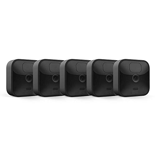 Blink Outdoor – wireless, weather-resistant HD security camera with two-year battery life and motion detection, set up in minutes – 5 camera kit