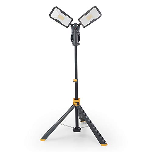 【Upgraded】LUTEC 6290Max 11000 Lumen 92W Dimmable LED Work Light with Telescoping Tripod,...