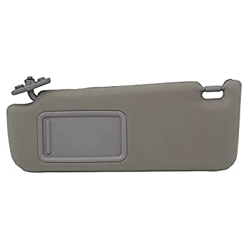 Dasbecan Left Driver Side Sun Visor Without Light Compatible with Toyota Camry LE/SE 2012-2017 Gray 74320-06610-B1 74320-06610-B2 74320-06611-B2 74320-33F40-B0