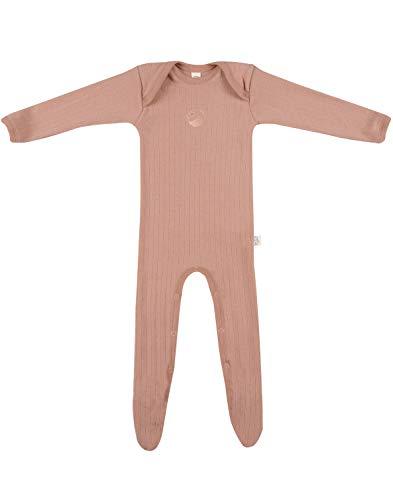 DILLING Overall mit Füßen für Babys aus 100% Bio-Merinowolle Puder 74