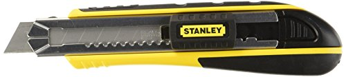 Stanley 10-481 FatMax Snap-Off Knife, 18mm,Silver/Yellow/Black