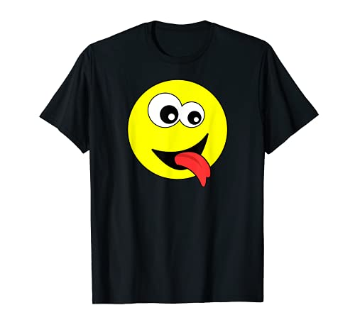 Lengua hacia fuera Rolling Eyes Emojis Cara Disfraz Emoticon Camiseta
