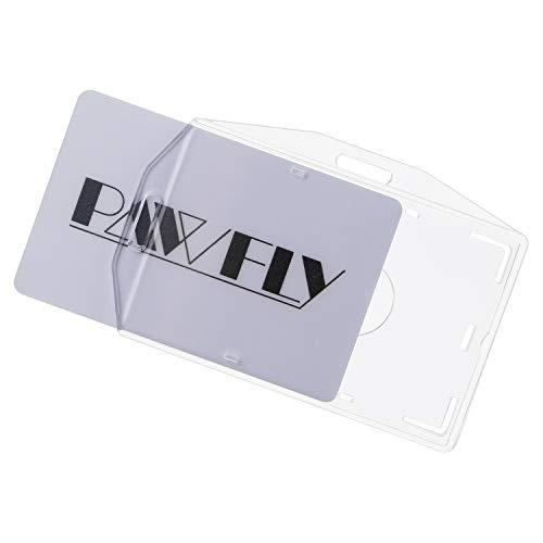 Uniclife 1 soporte para tarjeta, paquete de 5, plástico transparente, protector de tarjeta de crédito individual con ranura para el pulgar