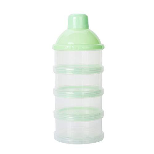 NaiCasy Baby Latte in Polvere Dispenser Feeding Contenitore da Viaggio per Lo stoccaggio 4 Non-Spill Snack Contenitore impilabile Senza BPA Verde, Madre e Bambino Prodotti per la Salute Quotidiana