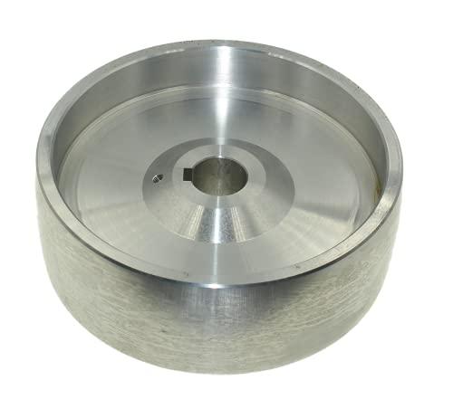 Lasana Smart Machines (Drive 158 – 24) Rueda de transmisión de correa mecanizada CNC para afilador de cuchillos, 158 mm de diámetro, 55 mm de ancho con orificio de 24 mm