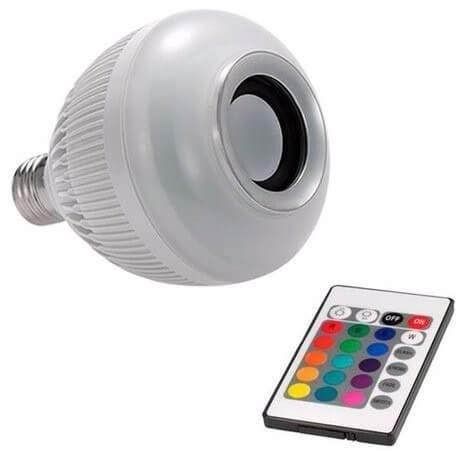 Lampada Musical Led com Caixa de Som Bluetooth