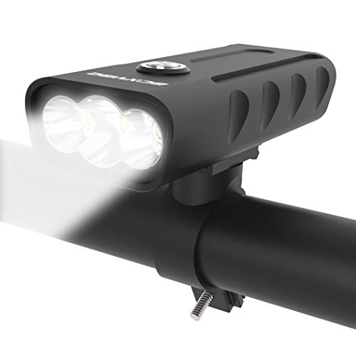 BCXYMQ USB Rechargeable Bike Light Front, 3 LED 1000 Lumen Runtime 10 Hours Built in Battery Bicycle Headlight Waterproof Accessories Aluminum Alloy Cycling Light Safety Flashlight
