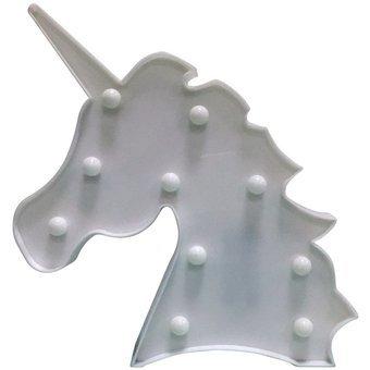 LED Licorne Blanc nuit lumières pour chambre des enfants 29 cm de hauteur