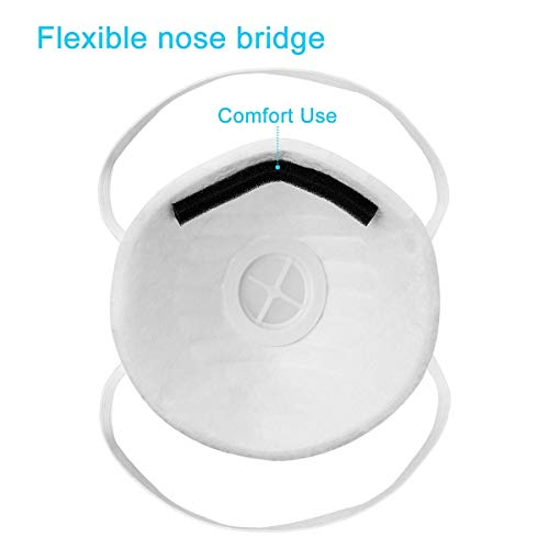 1x Atemschutzmaske FFP1 mit Ventil, Maske Atemschutz Mundmaske Mundschutz Atemschutzmaske zur Prophylaxe - 4