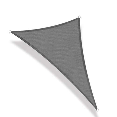 BAIYING Triángulo Red De Sombra, con Cordón Tasa De Sombreado 95% Poliéster Impermeable Proteccion Solar Red De Sombra por Terreno De Camping Playa Pérgola (Color : Gray, Size : 3X4X5M)