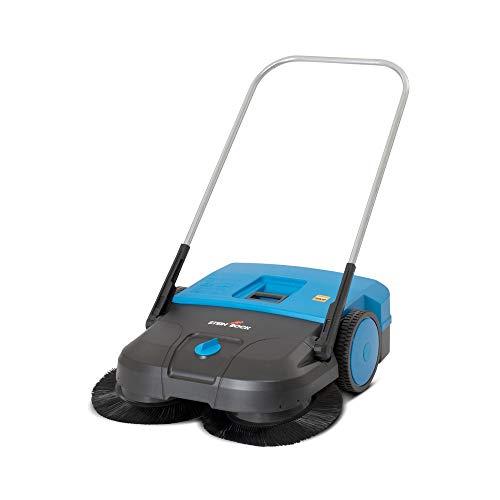 Kehrmaschine Steinbock® Turbo, manuell, Kehrbreite 750 mm, RAL 5015 himmelblau - Für den gelegentlichen Einsatz