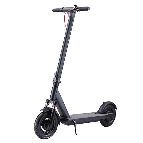 "QINGOR Electric Scooter Powerful 350W Motor 10"" Solid Tires One-Step Fold for Adults, Upgraded..."