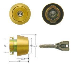 MIWA(美和ロック) PRシリンダー LAタイプ 鍵 交換 取替え MCY-206 LA/LAMA/DAゴールド色(BS)33~41mm