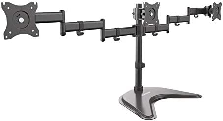 Diamond DMTA310 Triple Articulating Monitor Arm with Freestanding Table Top Desk Mount - Stand (Adjustable Arm) for 3 13