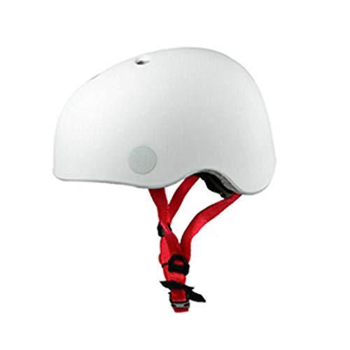 Speq Kinderhelm LED Skatehelm Verstellbar 48-53cm Fahrradhelm Tüv Weiß (Weiß, 48-53cm)