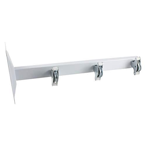 Tender Fil Tendedero Poleas, Metal, Blanco, 45 x 18 cm