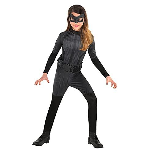 amscan 9906133 - Disfraz de Warner Bros Catwoman para niños (8-10 años), color negro