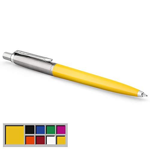 Parker Jotter Originals Colección de bolígrafos, acabado clásico amarillo, punta mediana, tinta azul, una unidad