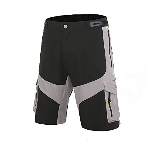 Cool Belle MTB Shorts Men Mountain Bike Shorts Loose Fit Baggy Cycling Shorts for Running Outdoor Sports