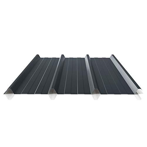 Trapezblech | Profilblech | Dachblech | Profil PS45/1000TR | Material Stahl | Stärke 0,45 mm | Beschichtung 25 µm | Farbe Anthrazitgrau
