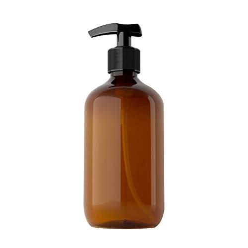 PING 500 ml Cilindro vacío dispensador de jabón translúcido emulsión dispensadora botellas líquidas recargables Botellas de bomba