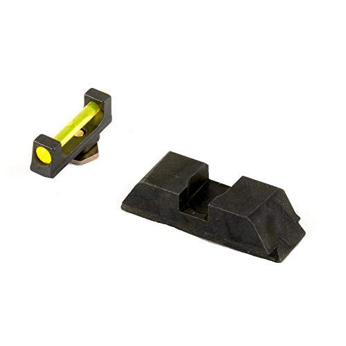 AmeriGlo Sight, fits Glock 17,19,22,23,24,26,27,33,34,35,37,38,39, Amber Fiber Front Black Rear