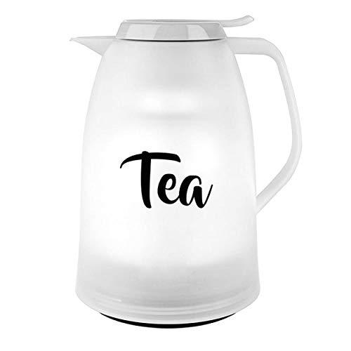 Emsa MAMBO TEA Isokanne Quick-Tip, Kanne, Teekanne, Kaffeekanne, Kaffee, Kunststoff, Weiß/Tea, 1 L, N4030800