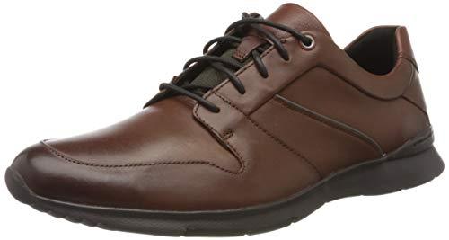 Clarks Un Tynamo Flow, Scarpe Stringate Brouge Uomo, Marrone (Mahogany Leather Mahogany Leather), 42 EU