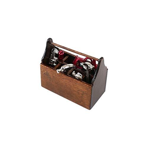 Regard L Doll House Werkzeugkasten tragbaren Miniatur-Puppenzubehör Kinder Werkzeug Simulation Dekorative...