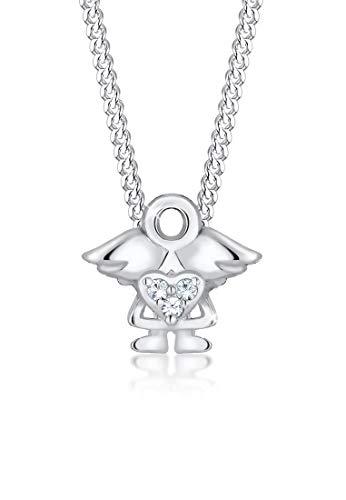 Elli Halskette Kinder Engel Swarovski® Kristalle 925 Silber